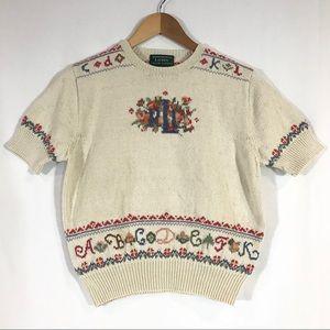 Lauren Ralph Lauren Hand Knit Cotton Sweater LRL